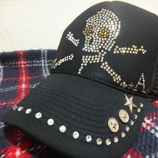 otto製 スカル スワロスキー帽子