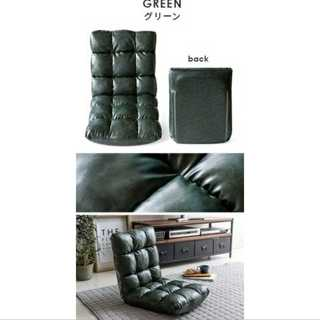 ブルー/レザー/座椅子/コンパクト/もこもこ/ワンルーム(ロッキングチェア)