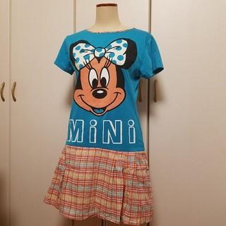 ディズニー(Disney)の古着 ミニーマウス ワンピ(ミニワンピース)
