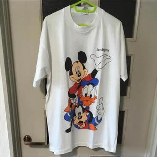 Disney - 90s ミッキーマウス ドナルドダック キャラクター Tシャツ vintage