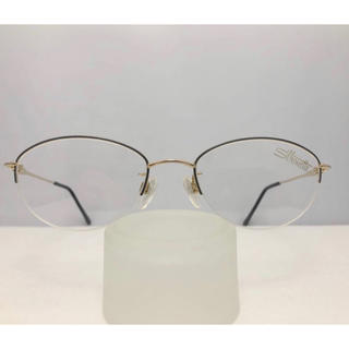シルエット(Silhouette)のシルエット 日本製 軽い 眼鏡 フレーム フォーマル 青 金 めがね メガネ(サングラス/メガネ)