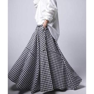 アンティカ(antiqua)の新品未使用 antiqua ギンガム チェック ロング スカート(ロングスカート)