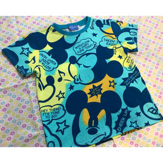 Disney - ミッキーTシャツ130緑グリーン