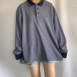 ナイキ(NIKE)のNIKE ロゴ刺繍長袖ポロシャツ(ポロシャツ)