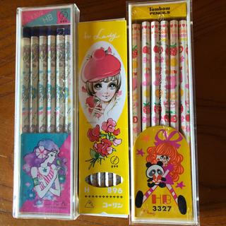 女の子 鉛筆セット  昭和レトロ(鉛筆)