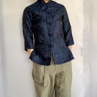 サンタモニカ(Santa Monica)の古着 90s チャイナシャツ  (シャツ/ブラウス(長袖/七分))