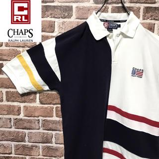 チャップス(CHAPS)の【激レア】チャップス ラルフローレン 爽やかカラー ゆるだぼ刺繍ロゴ ポロシャツ(ポロシャツ)