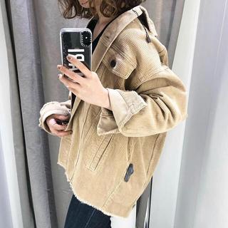 ZARA - 希少!XSサイズ Zara コーデュロイジャケット ベージュ インスタで人気