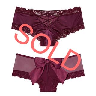 ヴィクトリアズシークレット(Victoria's Secret)の新品❤️ヴィクトリアシークレット リボン チーキーショーツ  2点セット(ショーツ)