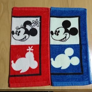 Disney - ミッキー&ミニー  ハンドタオル  2枚セット