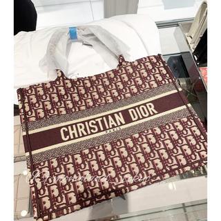 ディオール(Dior)のDior ★スモール★ディオール ブックトート ボルドー(トートバッグ)
