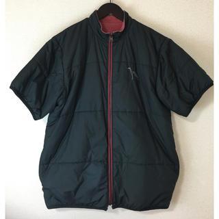 アダバット(adabat)のadabat アダバット リバーシブル 半袖 中綿 ジャケット 黒×赤系 L(ウエア)