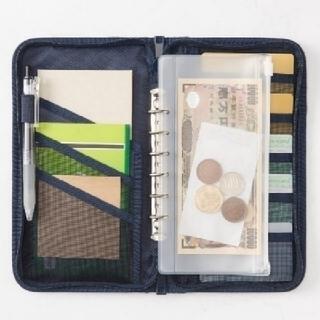 無印良品 パスポートケース  リフィル、3枚付 新品未使用タグ付き ★ネイビー