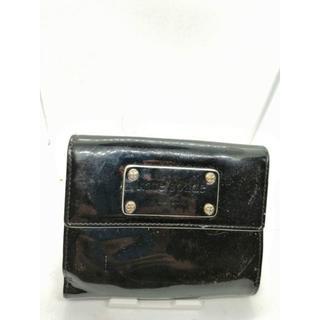 ウィンターケイト(Winter Kate)のKate Spade 【送料無料】ケイト・スペード折財布 黒色 エナメル(財布)