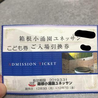 箱根小涌園ユネッサン こども券1枚(プール)