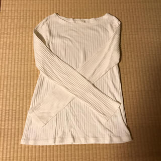ジーユー(GU)の白のロンT   GU   XL  試着のみ(Tシャツ(長袖/七分))