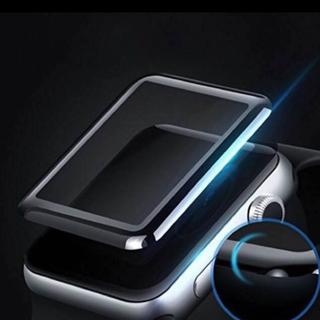 apple watch 全面保護強化ガラスフィルム