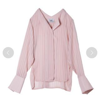 エイミーイストワール(eimy istoire)のsheer vneck shirt(シャツ/ブラウス(長袖/七分))