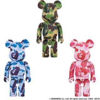 A BATHING APE - BE@RBRICK ABC CAMO 1000% 3体セット