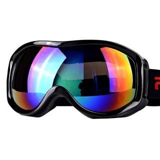 スキーゴーグル スノボーゴーグル 紫外線防止 防水 高品質 防護 耐衝撃 曇り (ウエア/装備)