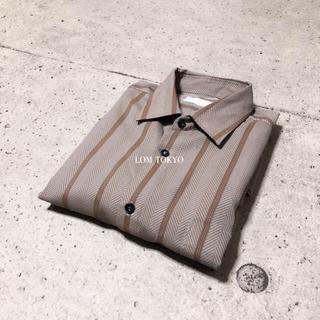 [used]brown herringbone suit shirt.(シャツ)
