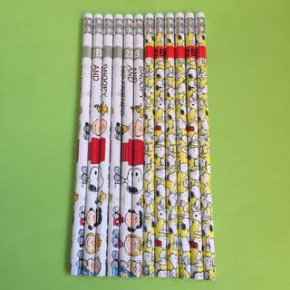 【12本】スヌーピー消しゴム付2B 鉛筆(鉛筆)