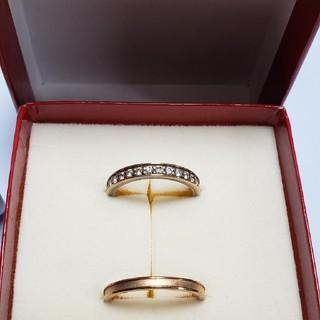 ブルーム(BLOOM)のピンクゴールド×ジルコニア リングセット(リング(指輪))