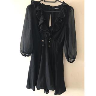 スパイガール(SPYGIRL)のワンピース ドレス スパイラルガール ブラック(ミニワンピース)