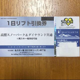 Ai様専用!高鷲スノーパーク・ダイナランド共通リフト券(ウィンタースポーツ)
