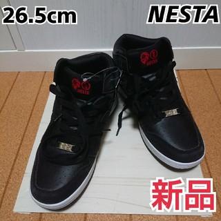 ネスタブランド(NESTA BRAND)の新品‼️ 札付‼️ ネスタ スニーカー 黒 26.5cm(スニーカー)