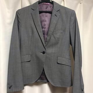 オリヒカ(ORIHICA)のオリヒカ テーラードジャケット グレー バードアイ スーツ オフィスカジュアル(テーラードジャケット)