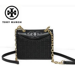 トリーバーチ(Tory Burch)のトリーバーチ チェーンバッグ ミニバッグ  黒 金 ブラック ゴールド(ショルダーバッグ)