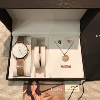 ダニエルウェリントン 腕時計、バングル、ピアス、ネックレス、リング 5点セット