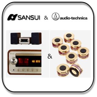 サンスイ 真空管アンプのCDコンポ +  オーディオ テクニカ インシュレーター(その他)