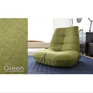 グリーン/座椅子/ポケットコイル/14段階調整/安定感(ロッキングチェア)