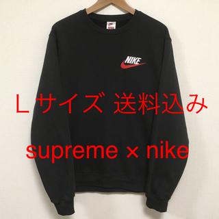 Supreme NIKE crewneck L スウェット plaid