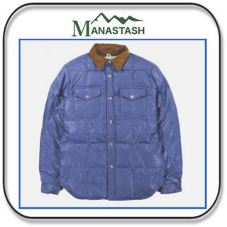 特価 マナスタッシュ シャツスタイルのダウンジャケット SIZE:M(ダウンジャケット)