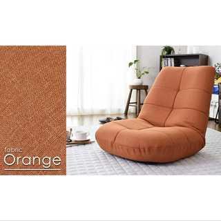 オレンジ/座椅子/ポケットコイル/14段階調整/安定感(ロッキングチェア)