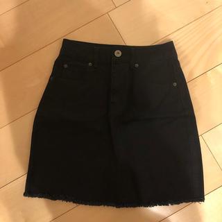 コルザ(COLZA)の黒 タイトスカート  ブラック(ひざ丈スカート)