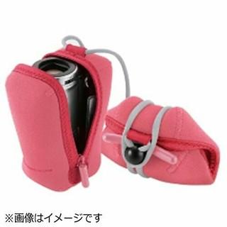 エレコム(ELECOM)のエレコム ビデオカメラケース コンパクトタイプ ピンク 新品(ケース/バッグ)