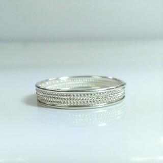 21号か22号 繊細な細工の純銀 シルバーリング(リング(指輪))