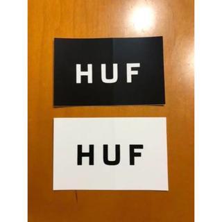 ハフ(HUF)のHUF ステッカー 白黒 モノトーン 2枚セット SKATE スケボー BMX(ノベルティグッズ)