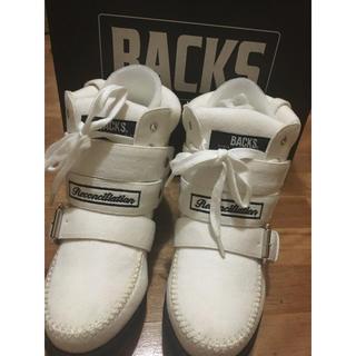 バックス(BACKS)のBACKS ホワイト スニーカーMサイズ(スニーカー)