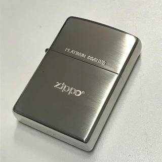 ジッポー(ZIPPO)の美品 プラチナコーティング ジッポー (タバコグッズ)