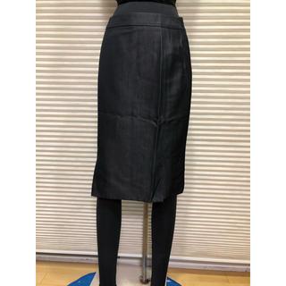 イネド(INED)のINEDイネド美良品 艶黒スカート 2点以上まとめ買い値下げ!(ひざ丈スカート)