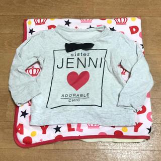 ジェニィ(JENNI)のJENNI♡リボン♡薄手トレーナー♡100(Tシャツ/カットソー)