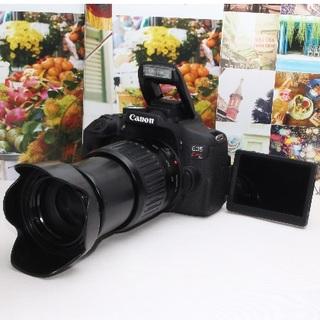 キヤノン(Canon)の❤️Wi-Fi内蔵&自撮り対応❤️Kiss X8i 望遠レンズセット❤️(デジタル一眼)