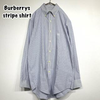 バーバリー(BURBERRY)のBurberry バーバリー ストライプシャツ ワンポイント (シャツ)