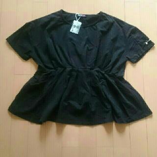 ジェニィ(JENNI)の新品未使用タグ付きジェニィJenniペプラム黒カットーソーTシャツ160(Tシャツ(半袖/袖なし))