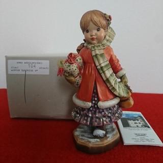 アンリ サラ ケイ ウインターサプライズ 木彫り人形(彫刻/オブジェ)